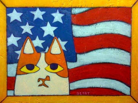Patriotic Brewskie Butt Painting by BZTAT